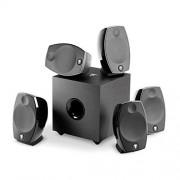 Focal-JMlab SIB EVO 5.1/118763 Sistema Teatro en casa 5.1 Tweeter de Aluminio Color Negro (Cono de Fibra de Vidrio),