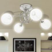 vidaXL 240984 Mennyezeti lámpa, 4 db G9-es izzóhoz tartozó dróthálós árnyékolóval