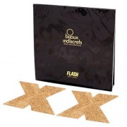 Cobertura Mamilos Flash Glitter Cross Bijoux Indiscrets Dourados