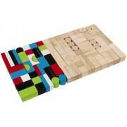 KidKraft Wooden Block Set, Assorted (100 Pieces)