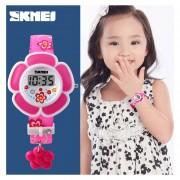 Reloj Infantil Con Forma De Flor-Rosa