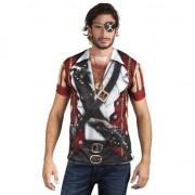 Merkloos Shirt met piraat opdruk
