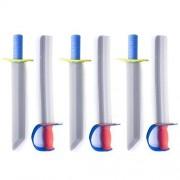 The Bridge Direct 17 Foam Prince Sword Toy Set Party Supplies (6 Swords) By Super Z Outlet