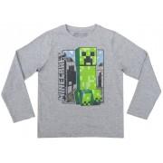 Bluza maneca lunga Minecraft ORIGINAL licenta Mojang White