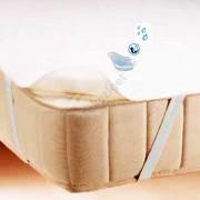 Vízhatlan sarokpántos antiallergén ágyvédő frottírlepedő, Sabata, 140x200 cm