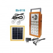 Sistem Iluminare LED cu Incarcare Solara, 2 Becuri LED si Lampa Portabila BB-9118