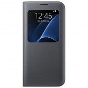 Bpfy® - Meilleur Prix - S6 Edge+ - Etui De Protection Facon Cuir Noir Format View Cover Avec Fenetre - Pour Samsung Galaxy S6 Edge+ Plus - Top Produit