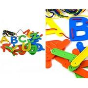 AP 26 Plastic Uppercase Alphabet Lacing Letters & Laces for Kids