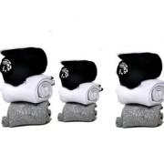 Manan fashion Unisex Ankle towel Socks - Pack of 9