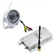 Câmera CFTV Infravermelho Sem Fio Wireless com Receptor 900Mhz e Fontes 1802SF Pyxel