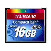 Transcend 16 GB CompactFlash (CF) Card - 1 Card - TS16GCF400