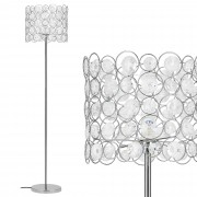 [lux.pro]® Lámpara de pie 'CrystalTree' - bombilla excluida - E27 / 60 W / 230 V - chromo (155cm - 34 cm)