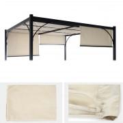 Ersatzbezug 390x140cm für Dach Pergola Pavillon Granada 3x3xm creme ~ Variantenangebot