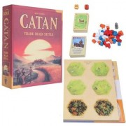 Emob Adventurous Catan Trade Build Settle Strategy Family Board Game for Kids and Adults Board Game