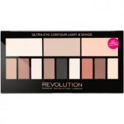 Makeup Revolution Ultra Eye Contour paleta para contorno de olhos tom Light & Shade 14 g