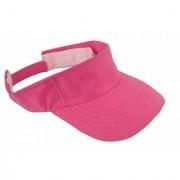 Men's and Women's Cotton Casual Sun-hat Baseball Sport Visor Cap (Pink)
