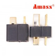 Amass AM-1015 T Plug Connector Black Male & Female 1 Pair