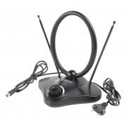 Knig Versterkt DVB-T/T2 - DAB+ Binnen Antenne 22 dB FM / VHF / UHF