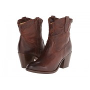 Frye Tabitha Pull On Short Dark Brown Washed Antique Pull Up