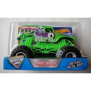 HOT WHEELS MONSTER JAM 2016 1:24 SCALE LIGHT GREEN GRAVE DIGGER 4 TIME CHAMPION BAD TO THE BONE
