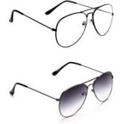 funglasses Aviator Sunglasses(Clear, Black)