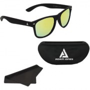 Adam Jones Green Mirrored Wayfarer Matt Finish Sunglasses