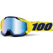 100% Accuri Supply Óculos de motocross Azul Amarelo único tamanho