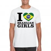 Bellatio Decorations I love Brazilian girls t-shirt wit heren