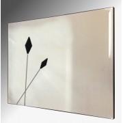 Twin Black Spears Design Bevelled Frameless Mirror 92X61cm