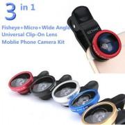 Artek Universal 3 in 1 Cell Phone Camera Lens Kit - Fish Eye Macro Lens Wide Angle Lens / Universal Clip