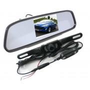 """Spätné zrkadlo + LCD 4,3"""" + bezdrótová parkovacia kamera"""