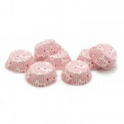 Muffinpapír pink spirális 100 db, nagy (72101-PK)