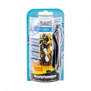 Wilkinson Sword Hydro 3 Transformers 1 ks sada holicí strojek s jednou hlavicí 1 ks + náhradní hlavice 4 ks pro muže