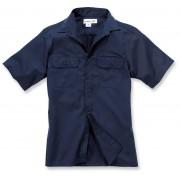 Carhartt Twill Work Camisa de manga corta Azul Oscuro M