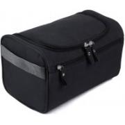 Honestystore Multifunction Zipper Toiletry Bags Travel Organizer Wash Storage Bags Makeup Bags Cosmetic Case -Black Color(Black)