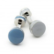 Ulterior Motive Binary Cufflinks Grey/Blue