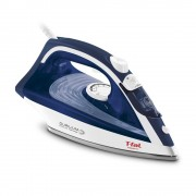 plancha de vapor t-fal fv1861x0 azul con blanco