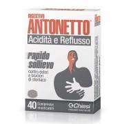 Chiesi Farmaceutici Digestivo Antonetto Acidita' E Reflusso 40 Compresse Masticabili