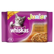 -WHISKAS ALUTASAKOS 100G 4-PACK JUNIOR BONUS