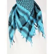 Turquoise/zwarte Palestina sjaal
