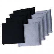 Trademark Games Championship Cornhole Bean Bags (Set of 8), Black/Grey