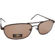 Libnan Photochromatic Rectangular Sunglasses(Clear, Brown)
