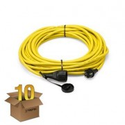TROTEC Cable alargador profesional de 20 m / 230 V / 2,5 mm² - Made in Germany en juego de 10 unidades
