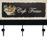 Cabideiro Café Fresco 3 Ganchos 19x25x5cm Colorido Kapos