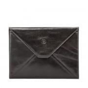 Leder iPad Tablet Hülle in Schwarz