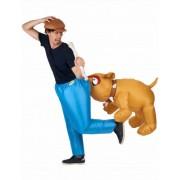 Disfraz inflable de perro bulldog adulto Única