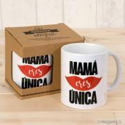 Taza cerámica Mamá Única en caja regalo