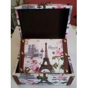 Кутии за бижута изработени от дърво и плат (SEZ4997)