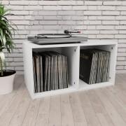 Sonata Кутия за съхранение на грамофонни плочи, бяла, 71x34x36 см, ПДЧ