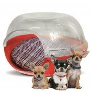 Casa Pet Cave Gato Perro Mascotas Plast Pet Chica Snow Roja